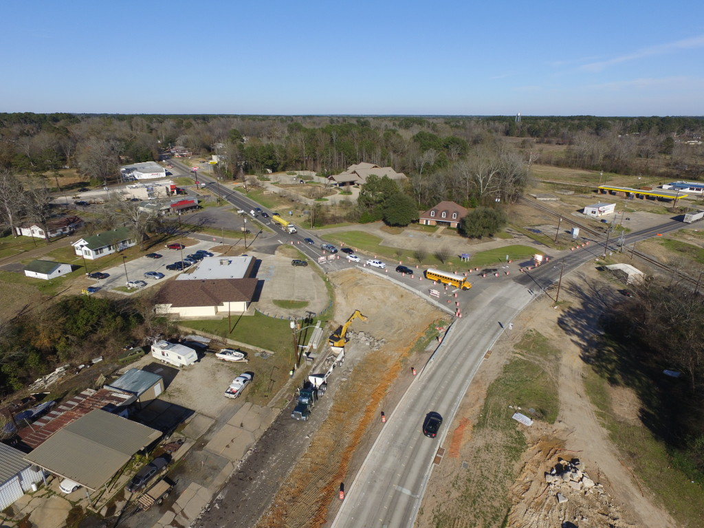 Road construction in Logansport, Louisiana