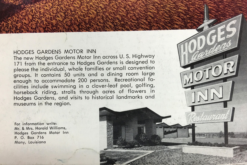 Ad for Hodges Gardens Motor Inn