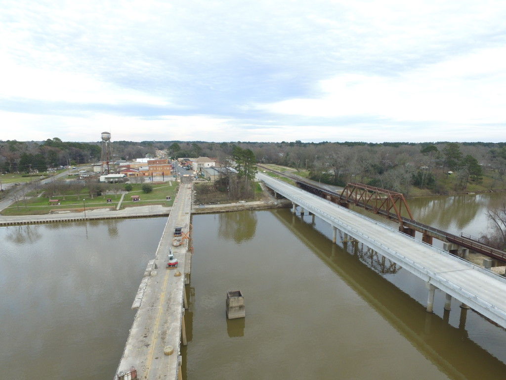 U. S. Hwy. 84 bridge over Sabine River, Week 3 or 4 of removal