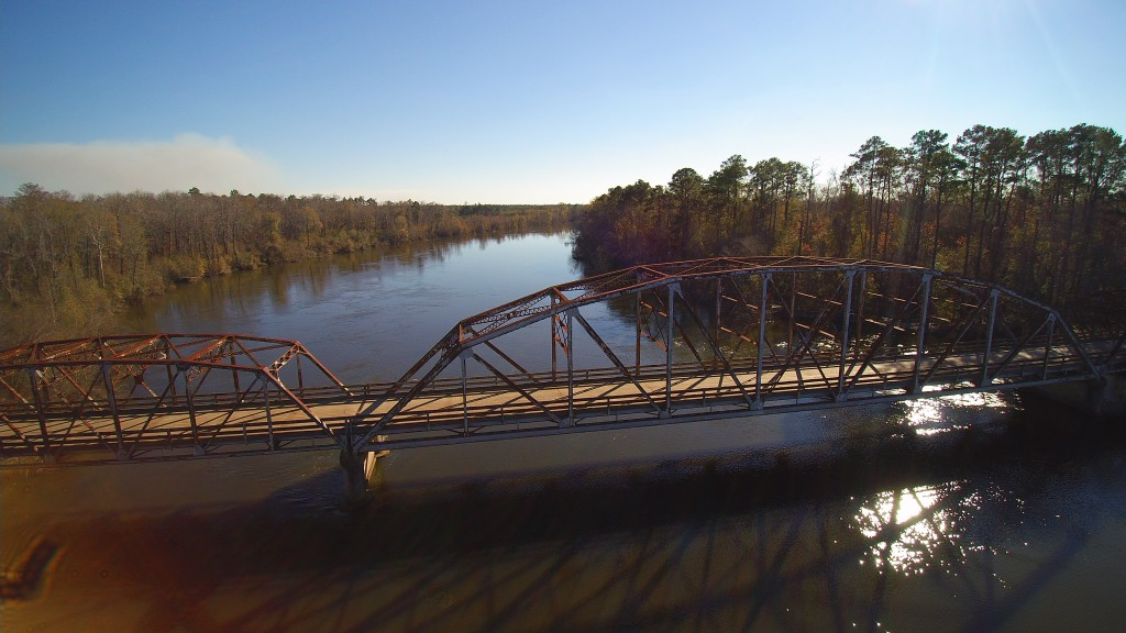 Burr's Ferry Bridge, crossing the Sabine River