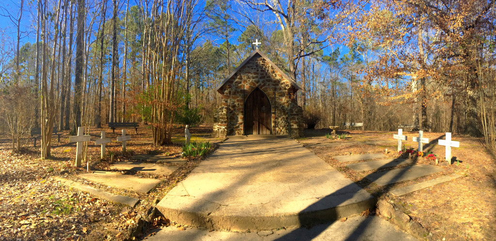 Built by Carmelite monks in the 1800s is Rock Chapel, in DeSoto Parish, Louisiana