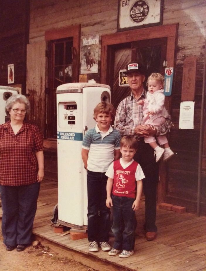 Janell Fitts Richards' parents, Homer and Eunice Fitts, and Janell's children