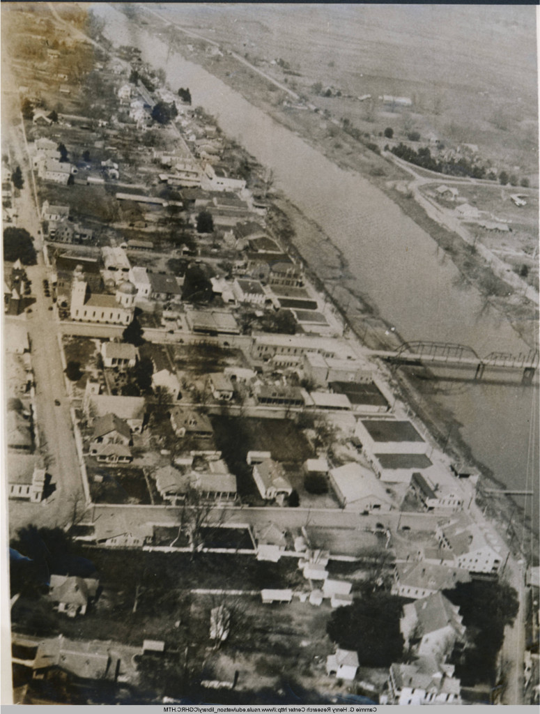 Natchitoches, Louisiana from the air in the early 1920s