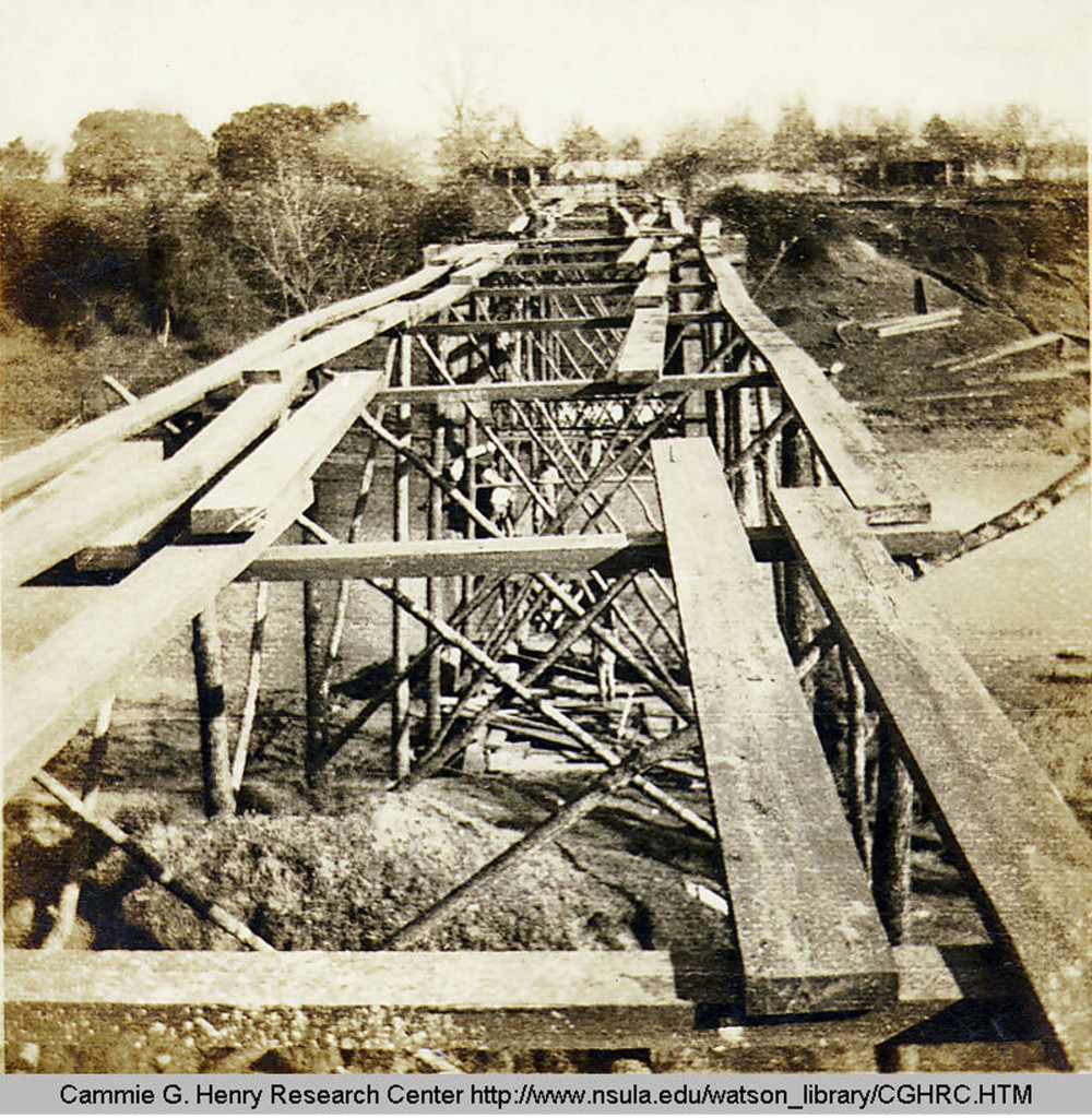 Cane River bridge under construction