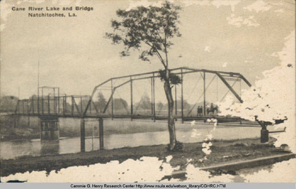 Postcard of Cane River Bridge.