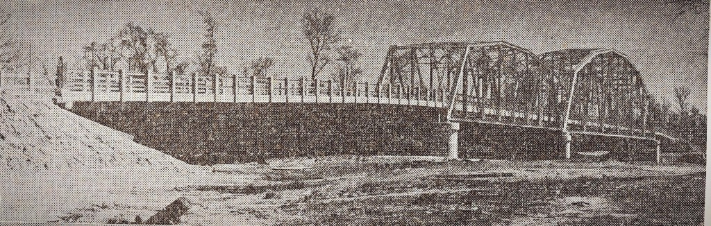 1931. Bridge over Sabine River between Merryville, Louisiana and Bon Weir, Texas. From The Beaumont  Enterprise.