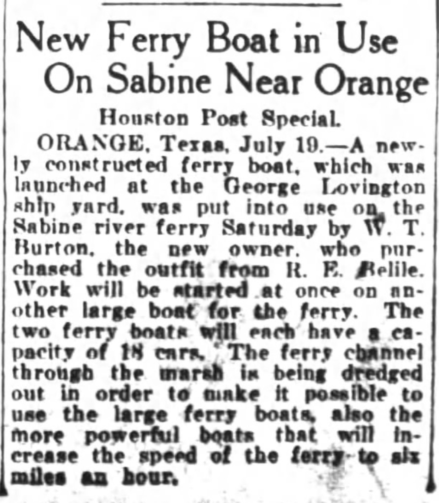 From The Houston Post, 1924
