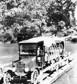 Crossing Sabine by the Pendleton Gaines Ferry in 1920s.