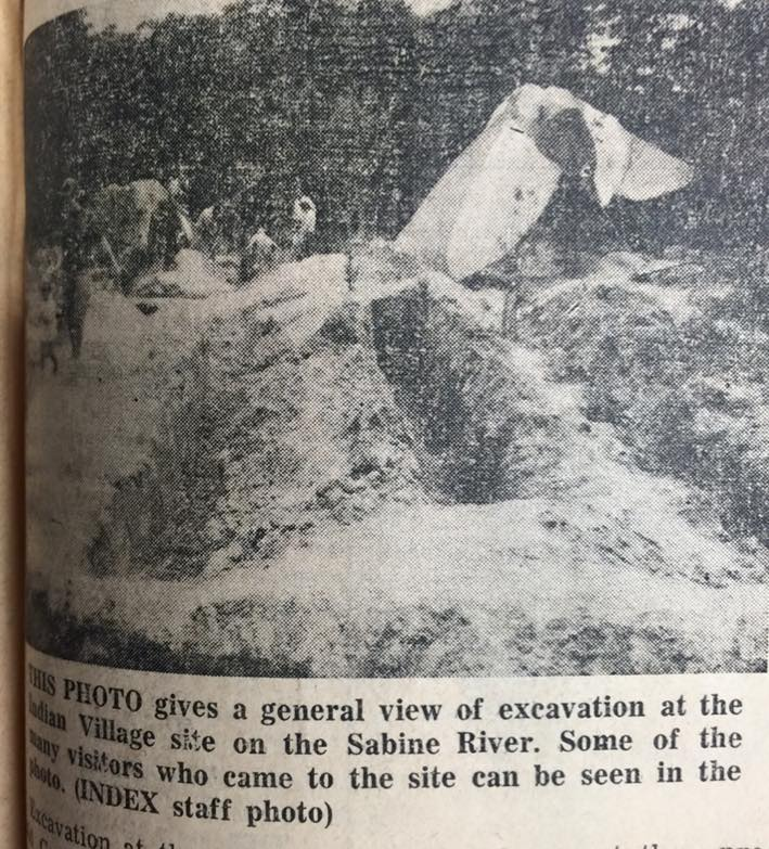 Caddo Indian Village site on Sabine River studied before creation of Toledo Bend