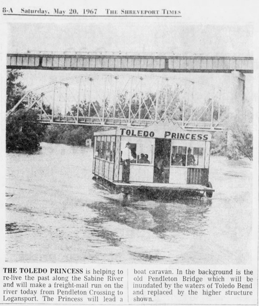 This photo and caption was from The Shreveport Times, in Summer 1967