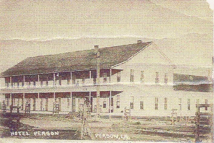 The Peason Hotel operated in the mill town of Peason. This hotel had 134 rooms and a large restaurant in it. (Robertson Collection)