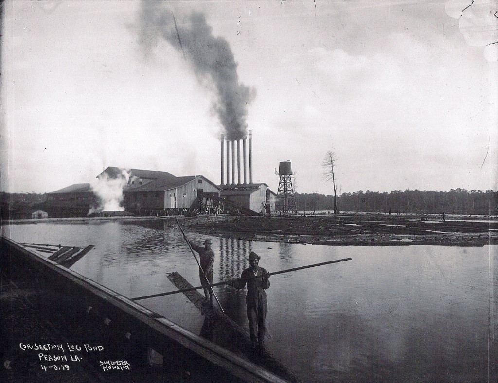 Photograph of the Peason Mill pond taken in 1919. This large pond is still located at the old mill site. Photo taken in 1919. (HPL Collection)